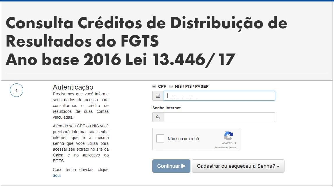 distribuição de resultados fgts 2018