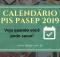 Calendário PIS Pasep 2019