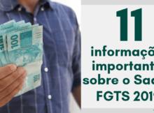 Informações importantes sobre o Saque do FGTS 2019