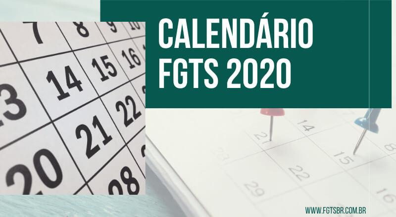 Calendário FGTS 2020 - FGTS