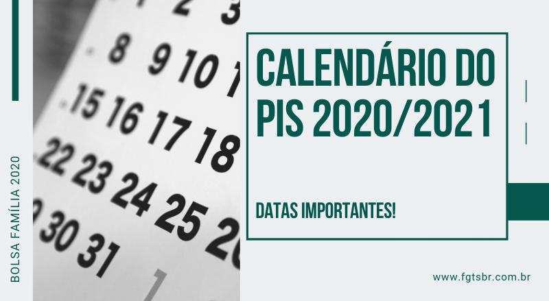 calendário do pis 2020