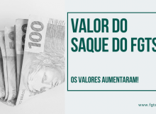 valor do saque do fgts